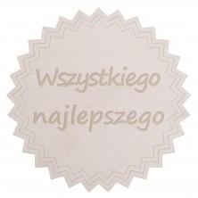 Drewniane kapselek dekoracyjny Wszystkiego Najlepszego 2