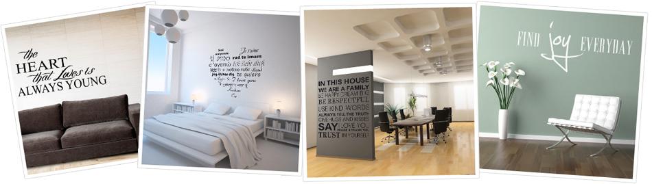 Naklejki dekoracyjne na ściane - napisy