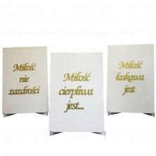 Hymn o Miłości - tablice grawerowane Białe