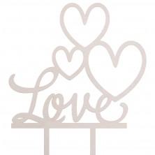Drewniany toper z napisem Love
