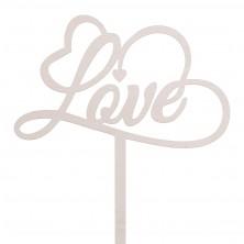 Drewniany toper z napisem Love 2