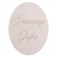 Drewniana tabliczka grawerowana Smacznego Jajka