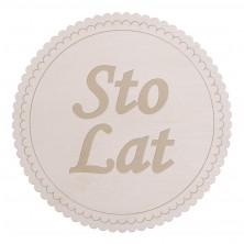 Drewniane kapselek dekoracyjny Sto Lat
