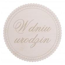 Drewniane kapselek dekoracyjny W dniu urodzin