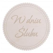 Drewniane kapselek dekoracyjny W dniu Ślubu