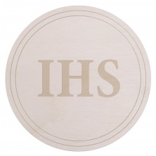 Drewniany kapselek dekoracyjny IHS