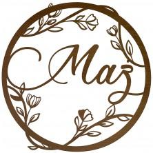 Okrąg dekoracyjny Mąż motyw kwiatowy