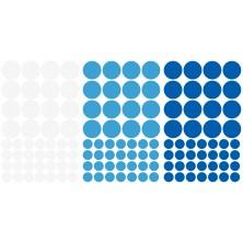 Naklejki do pokoju dziecka Kropki Groszki - biały, niebieski