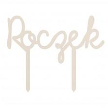 Drewniany topper na tort - Roczek